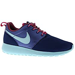Nike Youths Roshe One Navy Mesh Trainers Size 37.5 Eu