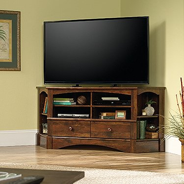 Sauder 420471 Harbor View Corner Entertainment Credenza, For TV's up to 60
