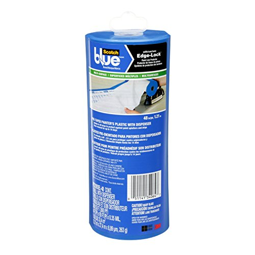 ScotchBlue Pre-taped Painter's Plastic, Unfolds to 48-Inches by - 48 Drop In