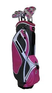PowerBilt Golf Women's Countess Magenta +1-Inch Box Set , Graphite, Right Hand