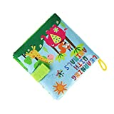 Baby Books,Rucan OUR BEST SOFT BOOK for BABIES Fabric Activity Crinkle Cloth Books (D)