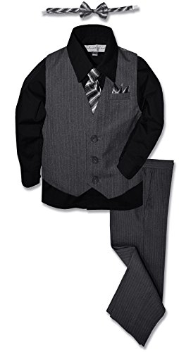 JL40 Pinstripe Boys Formal Dresswear Vest Set (8,