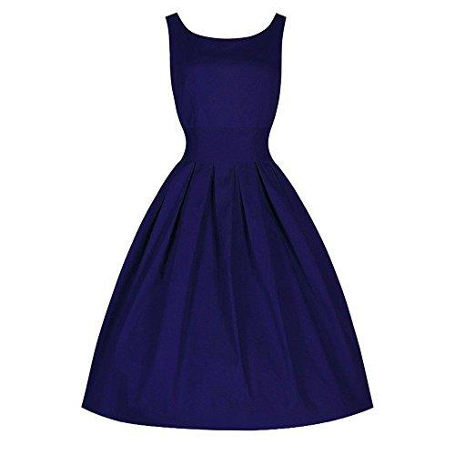 Da Swing S Dress Blu Sera Rockabilly Retro Abito fittingran Festa Donna Estivo 50' w8X8Zq