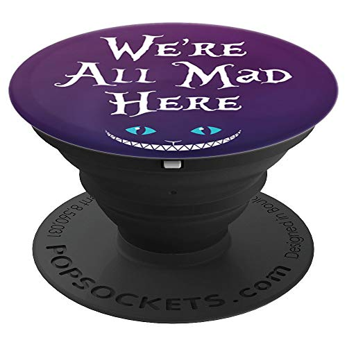 Brave New Look Wonderland We're All Mad Here Pop Sockets Stand for Smartphones and Tablets - PopSockets Grip and Stand for Phones and Tablets -