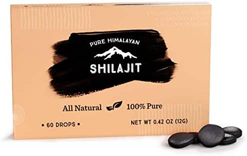Shilajit Dry Drops from Pure Himalayan Shilajit ® - 60 Counts, 2 Month Supply, Original Siberian Shilajit, 100% Pure, Trace Minerals & Fulvic Acid