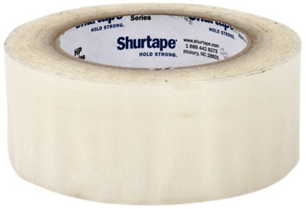 Pratt Plus HP 300 Shurtape Polypropylene Industrial Premium Hot Melt Adhesive Tape, 2.2 mil Thick x 110 yds Length x 2'' Width, 3'' Core, Clear (Pack of 36) by Pratt Plus