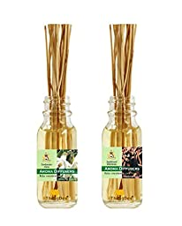 ThongDee Gum Benzoin Flower and Sandalwood Reed Diffuser Oils Aromatherapy Set 30ml. Relax Concentration Good Sleep