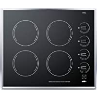 Summit CR424BL Electric Cooktop, Black