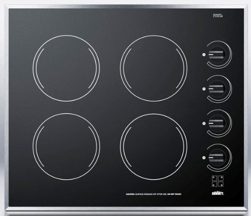 Summit CR424BL Electric Cooktop, Black by Summit