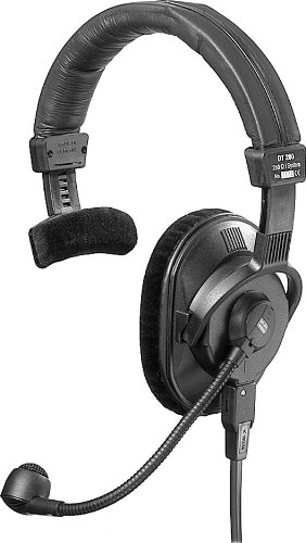 Beyerdynamic DT-280-V11-MKII-200-8 Single-Ear Headset with Hypercardioid Microphone and Built-In Pre-Amplifier, 80 Ohms ()