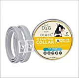 2 Pack Flea and Tick Collar for All Kinds of Dogs- 8 Month flea and tick Prevention,Adjustable Size & Waterproof Natural Safe