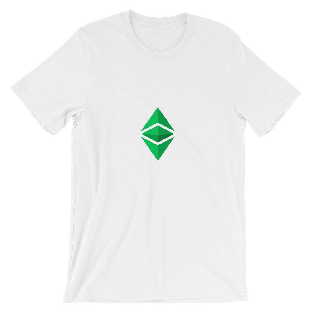 Ethereum Classic Crypto Bitcoin White Bella Canvas Short-Sleeve T-Shirt
