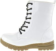 Shoe Dezigns Declyn 01 Womens Patent 2 Color Sets Lace Combat Boots