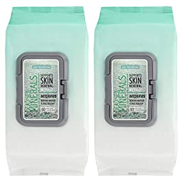Body Prescriptions – 2 Pack (60 Count Each) Dead Sea Minerals Facial Cleansing Wipes