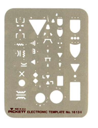 Pickett Electronic Template, Most Used Logic and Electronic Symbols (1613I) by Pickett