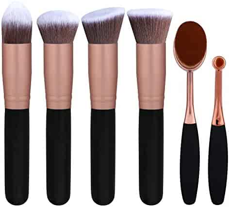 BS-MALL Face Foundation Powder Liquid Cream Makeup Brushes Set Synthetic Makeup brushes(Pack of 6)