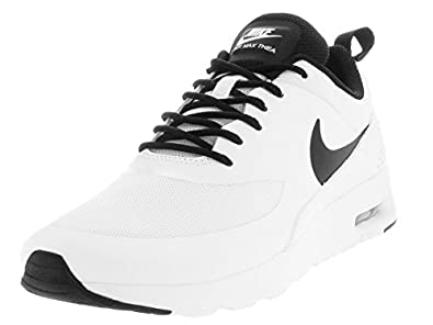 womens black and white nike air max thea