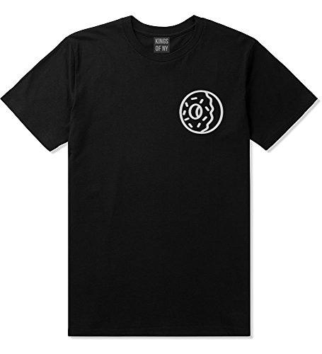 Kings Of NY Donut with Sprinkles Foodie Treats T-Shirt Medium Black (Future Odd Tshirts)