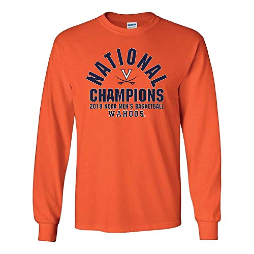 - Elite Fan Shop Virginia Cavaliers National Basketball Champions Long Sleeve Tshirt 2019 Arch Orange - L
