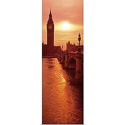 GREATBIGCANVAS Poster Print Entitled Big Ben London England by 12x36