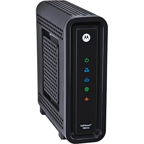 Motorola Cable Box - Motorola SURFboard SB6141 DOCSIS 3.0 High-Speed Cable Modem- BLACK (OEM Brown Box) (Certified Refurbished)