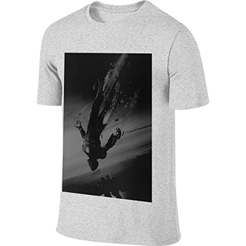NICOTE Mens Designed New Top Iron Man Tony Stark T-Shirt Gray (Iron Man Durch Die Jahre)