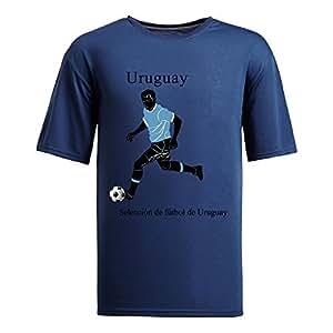 Custom Mens Cotton Short Sleeve Round Neck T-shirt,2014 Brazil FIFA World Cup teams navy