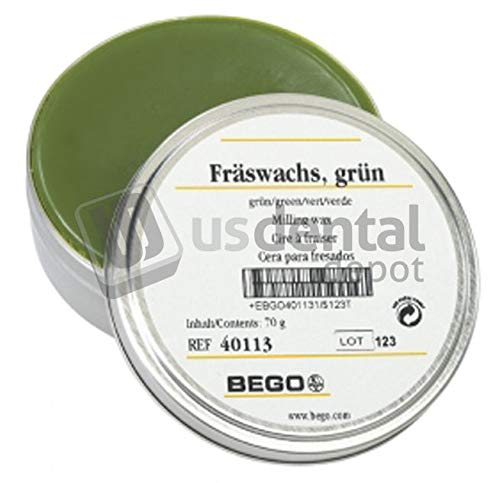 BEGO - Milling Wax Green 3oz. - (B# 400046) - Denmed Wh Inc is an Authorized BEGO Dealer in The US. - 105057 Denmed Wh