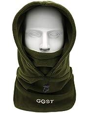 GG ST Balaclava muts, bivakmuts, skimasker, winddichte capuchon, winter, fiets, motorfiets, warm fleece gezichtsmasker