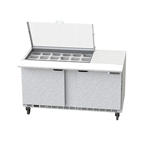 Beverage Air Mega Top - Beverage Air SPE60HC-18M-CL Clear Lid Mega Top Refrigerated Counter, 60
