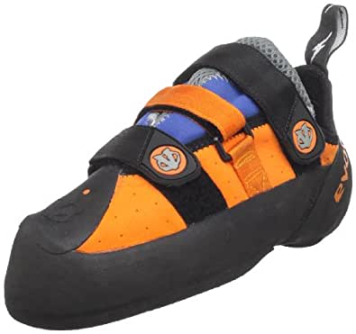 evolv Men's Shaman Climbing Shoe,Orange/Blue,4 M US