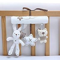 Sagton Baby Spiral Bed Stroller Toy,Baby Activity Spiral Wrap Around Crib Bed Stroller Rail Toy Bear Rabbit Star