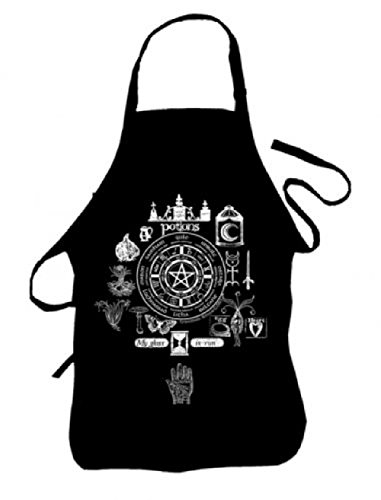 Kitchen Witch Potions Wheel of the Year Apron -Brew up a storm! Wiccan