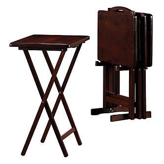 Essential Home 5-Piece Tray Table Set - Espresso  sc 1 st  Amazon.com & Amazon.com: Essential Home 5-Piece Tray Table Set - Espresso ...