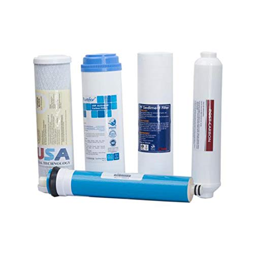 KUPPET Replacement Filter Set for Standard 5 Stage Reverse Osmosis Water System 50 GPD by KUPPET (Image #1)