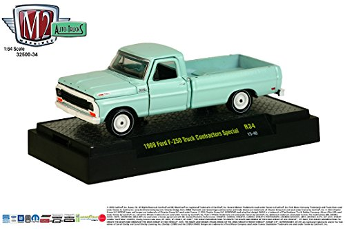 (1969 FORD F-250 TRUCK CONTRACTORS SPECIAL * Auto-Trucks Series Release 34 * M2 Machines 2015 Castline Premium Edition 1:64 Scale Die-Cast Vehicle ( R34 15-40 ))