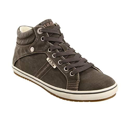 Taos Footwear Women's Top Star Canvas Sneaker Graphite Distressed