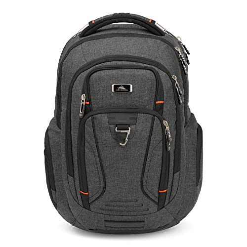 High Sierra Endeavor Business Elite Backpack - 17-inch Laptop Backpack for Business Professionals, Mercury Heather