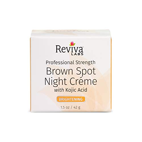 - Reviva Labs Brown Spot Night Cream with Kojic Acid - 1 oz