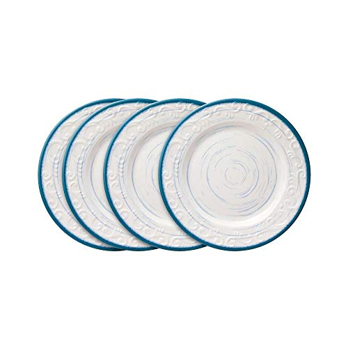Pfaltzgraff Melamine Trellis Blue Salad Plates, Set of 4