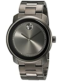 Movado Men's Bold 3600259 Gunmetal Stainless-Steel Swiss Quartz Watch