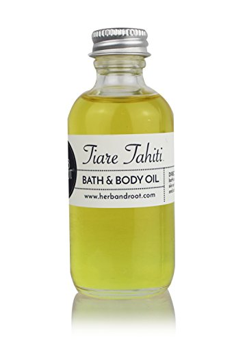 Tiare (Monoi de Tahiti) Teakwood Perfume for Women | Bath, Body, and Massage Oil | Moisturize and Scent The Skin ()