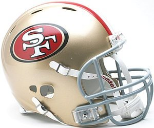 UPC 095855952291, San Francisco 49ers Authentic Pro Line Revolution Riddell Full Size Helmet