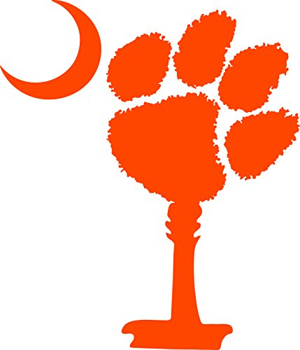 Eyecandy Decals South Carolina Palmetto Tree and Moon with Clemson PAW Decal 5