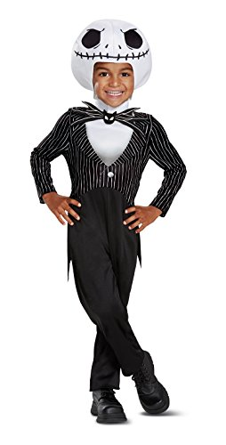 Disguise Jack Skellington Classic Toddler Child Costume, Black, -