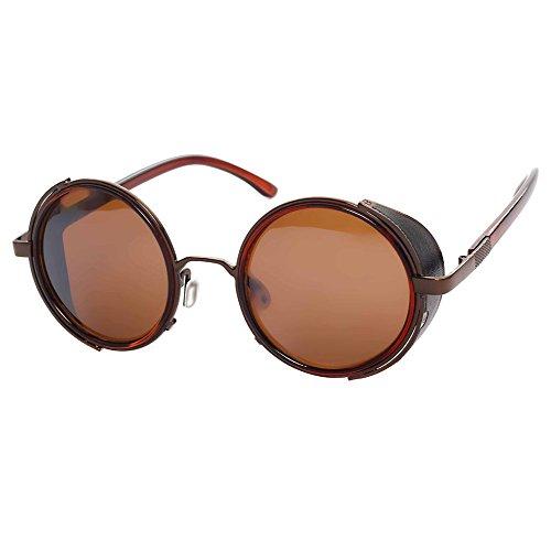 Cadre de Cercle Polarisé Marée Fashion Fashion Female Sunglasses , Cadre D'Arme Plein Gris