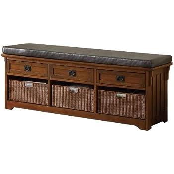 Coaster 501060 Home Furnishings Storage Bench, Medium Brown