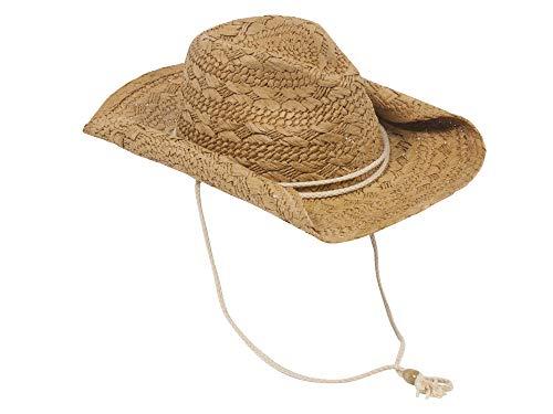 MG Ladies Toyo Straw Cowboy Hat COFFEE