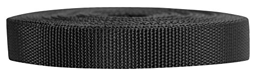 - Strapworks Heavyweight Polypropylene Webbing - Heavy Duty Poly Strapping for Outdoor DIY Gear Repair, 3/4 Inch x 50 Yards, Black