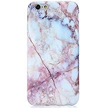 "Pink Marble iPhone 6 Plus Case, VIVIBIN Anti-Scratch &Fingerprint Shock Proof Thin TPU Case For iPhone 6+ / 6s+ 5.5"" , (Marble-047)"